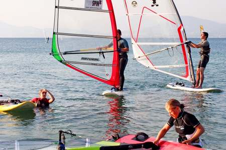 Stage initiation planche voile Hyeres