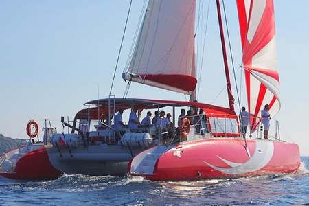 Demi journee catamaran Saint Tropez
